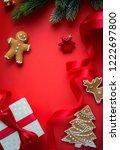 christmas holidays ornament... | Shutterstock . vector #1222697800