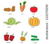 vegetables | Shutterstock .eps vector #122270350