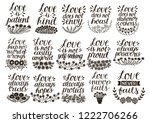 set of 15 hand lettering quotes ... | Shutterstock .eps vector #1222706266