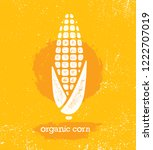 organic sweet corn on the cob... | Shutterstock .eps vector #1222707019