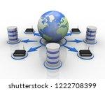 3d rendering transmitter wifi | Shutterstock . vector #1222708399
