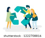 character of people holding a...   Shutterstock .eps vector #1222708816