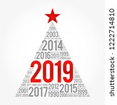 2019 happy new year and...   Shutterstock .eps vector #1222714810
