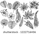 big set of hand drawn sketch... | Shutterstock .eps vector #1222716436