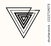 sacred geometry. the crossed... | Shutterstock .eps vector #1222719073