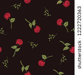 seamless pattern with roses.... | Shutterstock .eps vector #1222720363