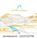 western desert. rocks. ... | Shutterstock .eps vector #1222722730