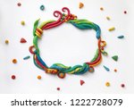 abstract plasticine background... | Shutterstock . vector #1222728079