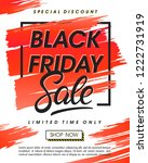 black friday sale banner... | Shutterstock .eps vector #1222731919