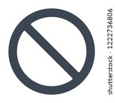 allowed  not icon | Shutterstock .eps vector #1222736806