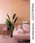 cozy living room corner with... | Shutterstock . vector #1222739566