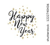 happy new year lettering... | Shutterstock .eps vector #1222740436