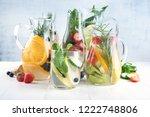 detox water. infused detox...   Shutterstock . vector #1222748806