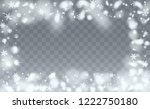 christmas snow flakes... | Shutterstock .eps vector #1222750180