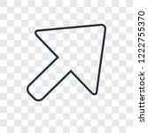 diagonal arrow concept vector...