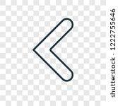 left arrow concept vector... | Shutterstock .eps vector #1222755646