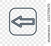 left arrow concept vector...