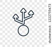 multiply concept vector linear... | Shutterstock .eps vector #1222755673
