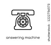 answering machine icon. trendy... | Shutterstock .eps vector #1222756573