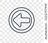 left arrow concept vector... | Shutterstock .eps vector #1222757959
