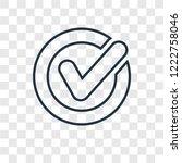 confirm concept vector linear... | Shutterstock .eps vector #1222758046