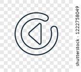 left arrow concept vector... | Shutterstock .eps vector #1222758049
