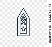 rank concept vector linear icon ...   Shutterstock .eps vector #1222761493