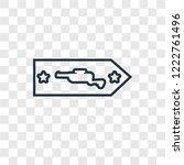 rank concept vector linear icon ...   Shutterstock .eps vector #1222761496