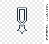 rank concept vector linear icon ...   Shutterstock .eps vector #1222761499