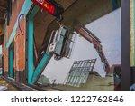 installing a big glass window... | Shutterstock . vector #1222762846