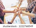 close up hand of business ... | Shutterstock . vector #1222768549
