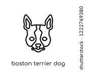 boston terrier dog icon. trendy ... | Shutterstock .eps vector #1222769380