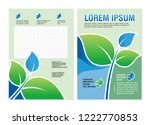 environmental flyer   brochure... | Shutterstock .eps vector #1222770853