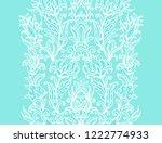 seamless vector floral border... | Shutterstock .eps vector #1222774933
