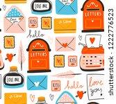 love post office. various...   Shutterstock .eps vector #1222776523