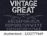 font alphabet vector named... | Shutterstock .eps vector #1222777669