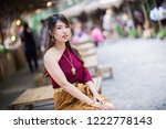 portrait of a beautiful thai... | Shutterstock . vector #1222778143