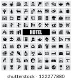 Vector Black Hotel Icons Set On ...