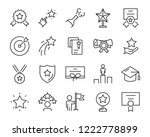 set of award line icons  such... | Shutterstock .eps vector #1222778899