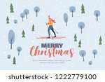 christmas picture with the... | Shutterstock .eps vector #1222779100