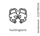 huntington's disease icon.... | Shutterstock .eps vector #1222780156