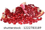 cut the pomegranate with... | Shutterstock . vector #1222783189