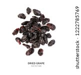 creative layout made of raisin... | Shutterstock . vector #1222785769