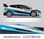 rally car wrap design. graphic... | Shutterstock .eps vector #1222786120