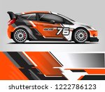 rally car wrap design. graphic... | Shutterstock .eps vector #1222786123