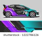 rally car wrap design. graphic... | Shutterstock .eps vector #1222786126