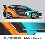 rally car wrap design. graphic... | Shutterstock .eps vector #1222786129