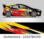 rally car wrap design. graphic... | Shutterstock .eps vector #1222786150