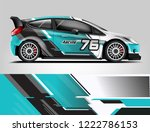 rally car wrap design. graphic... | Shutterstock .eps vector #1222786153