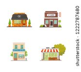 shop store buildings vector... | Shutterstock .eps vector #1222787680